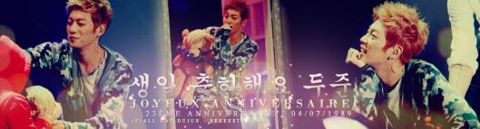 [ANNONCE BATB] 120704 – Anniversaire de Doojoon ♥ Wordpress